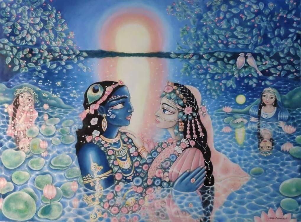 """In the Waves of Love"" - Mallika Madhavi's Art"