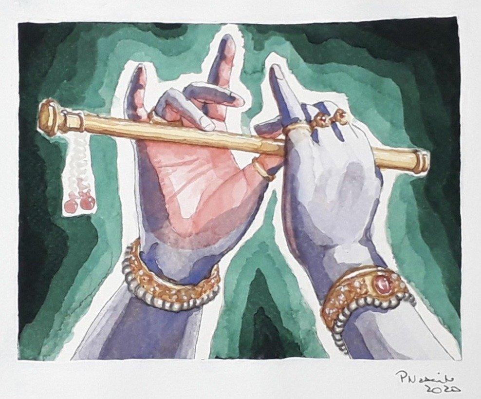 Krishna's hands- Paula Priscilla Goncalves
